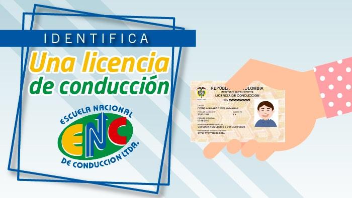 Características de una licencia de conducción